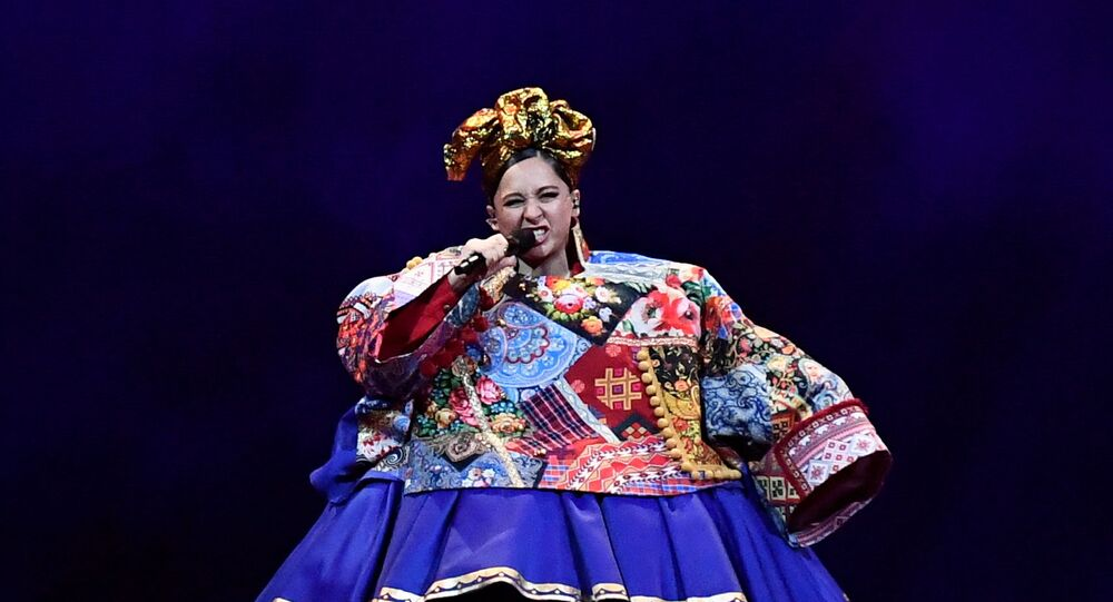 Participant Manizha of Russia performs during the final of the 2021 Eurovision Song Contest in Rotterdam, Netherlands, May 22, 2021.
