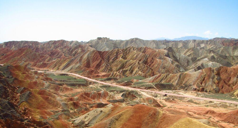 Danxia landform in Zhangye, Gansu province China