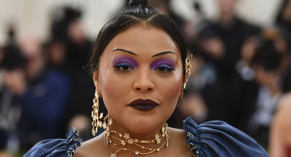 Paloma Elsesser attends The Metropolitan Museum of Art's Costume Institute benefit gala celebrating the opening of the Camp: Notes on Fashion exhibition on Monday, 6 May 2019, in New York.