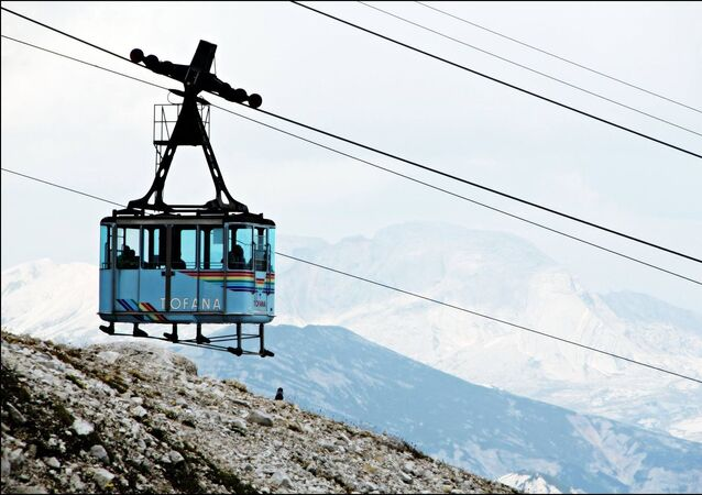 Cable car in Italy