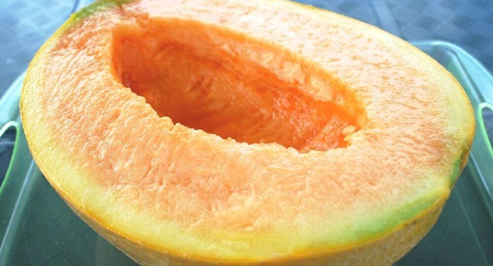 Half cut of Yubari melon