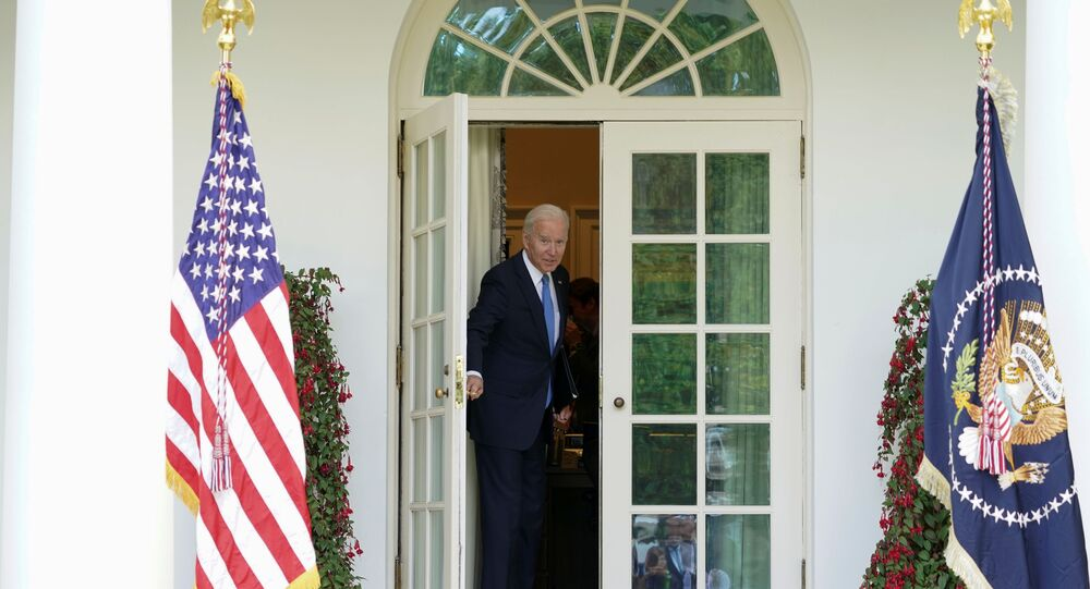 U.S. President Joe Biden leaves after speaking about the coronavirus disease (COVID-19) response and the vaccination program from the Rose Garden of the White House in Washington, U.S., May 13, 2021