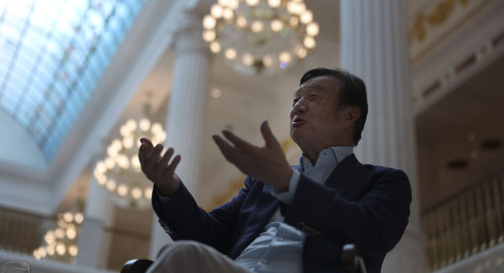 Huawei's founder Ren Zhengfei, speaks during an interview at the Huawei campus in Shenzhen in Southern China's Guangdong province on Tuesday, Aug. 20, 2019.