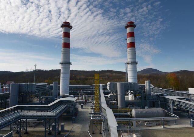 The territory of Dzhubginskaya Thermal Power Plant in Krasnodar