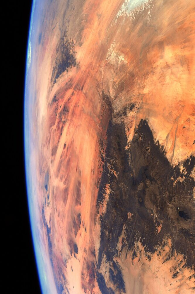I had to do a double-take when I saw this view. Not Mars but our own amazing planet, Pesquet said.