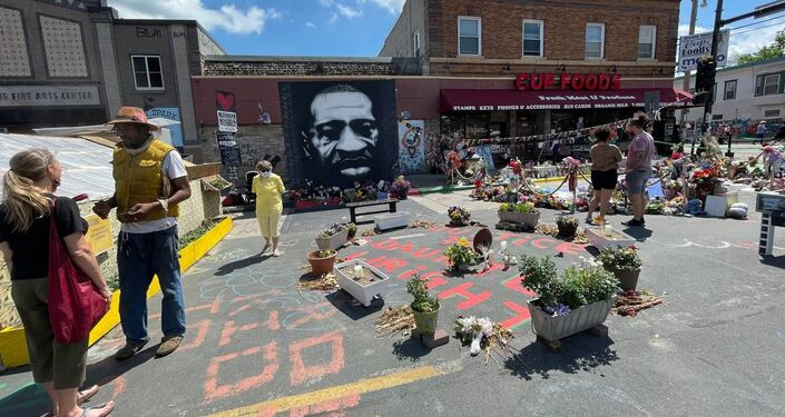 Commemoration event in Minneapolis in memory of George Floyd