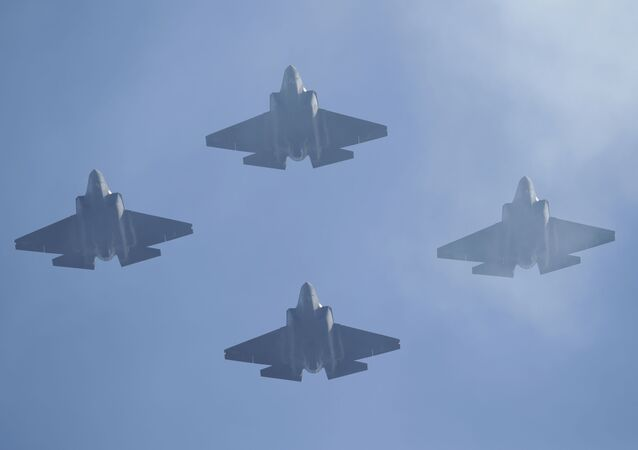 U.S. Navy F-35 jets fly over Levi's Stadium during the national anthem before an NFL divisional playoff football game between the San Francisco 49ers and the Minnesota Vikings, Saturday, Jan. 11, 2020, in Santa Clara, Calif.