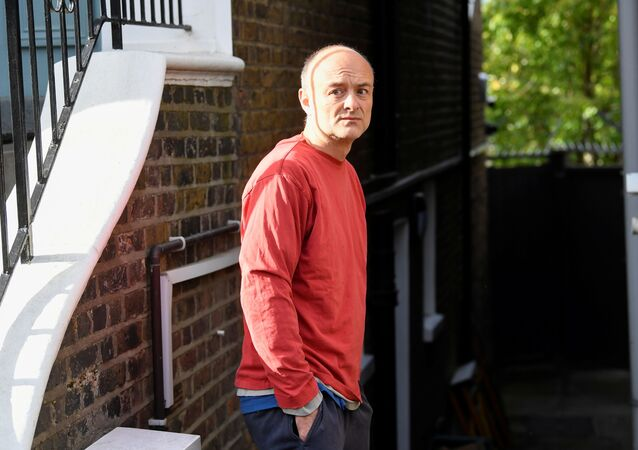 Former special advisor to British Prime Minister Boris Johnson, Dominic Cummings, looks on outside of his house, in London, Britain, May 4, 2021