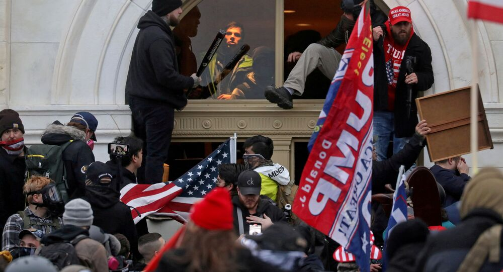 The US Capitol Building is stormed by pro-Trump protesters on Jan. 6, 2021