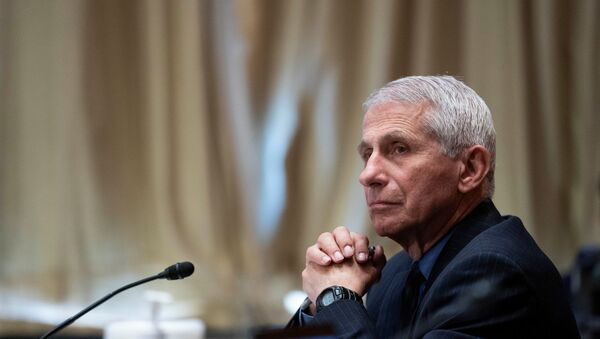 Dr. Anthony Fauci, director of the National Institute of Allergy and Infectious Diseases, listens during a Senate Appropriations Labor, Health and Human Services Subcommittee hearing looking into the budget estimates for National Institute of Health (NIH) and state of medical research on Capitol Hill in Washington, U.S., May 26, 2021. - Sputnik International