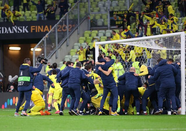 The Spanish football club Villarreal has won the UEFA Europa League, beating  England's Manchester United in the penalty shootout.