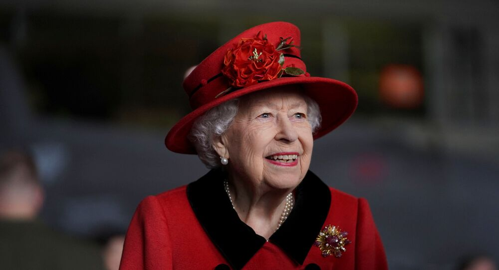 Britain's Queen Elizabeth visits HMS Queen Elizabeth ahead of the ship's maiden deployment at HM Naval Base in Portsmouth, Britain May 22, 2021.