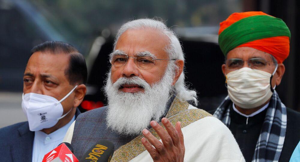 India's Prime Minister Narendra Modi in New Delhi