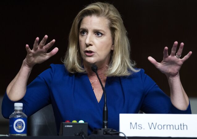 Christine Wormuth, nominee to be secretary of the Army, testifies during her Senate Armed Service Committee confirmation hearing, Thursday, May 13, 2021, on Capitol Hill in Washington.