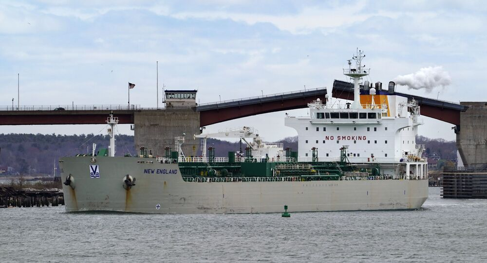 An oil tanker owned by Irving Oil arrives in Portland Harbor to unload fuel, Thursday, April 22, 2021, in South Portland, Maine.