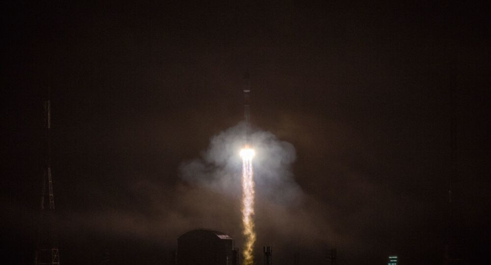 Launch of the Soyuz-2.1b carrier rocket with the Fregat upper stage and 36 new OneWeb spacecraft as part of mission 47 from the Vostochny cosmodrome