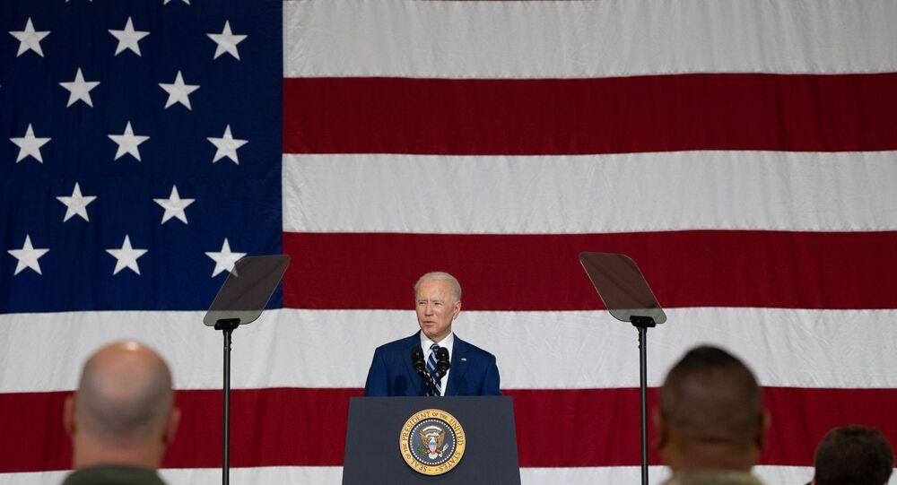 U.S. President Joe Biden delivers remarks at Joint Base Langley-Eustis in Hampton, Virginia, U.S. May 28, 2021.