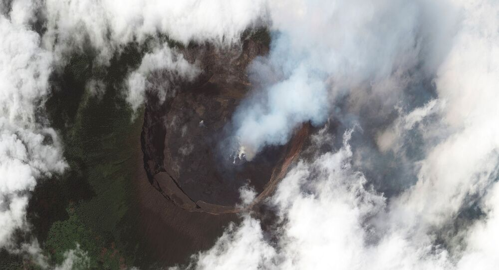 Volcanic activity is seen in the crater at Mount Nyiragongo near Goma, in the Democratic Republic of Congo May 25, 2021.