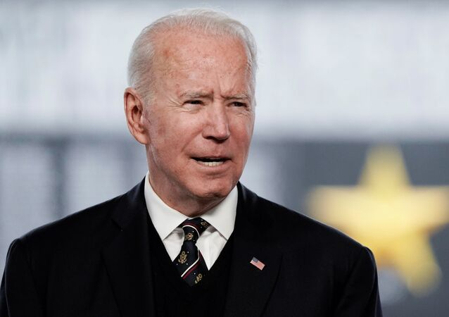 US President Joe Biden delivers remarks at an annual Memorial Day Service at Veterans Memorial Park, Delaware Memorial Bridge, Wilmington, Delaware, 30 May 2021.