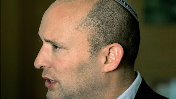 In this Monday, Feb. 16, 2015 file photo, Naftali Bennett, leader of the Jewish Home party, speaks during an interview to The Associated Press in Jerusalem. - Sputnik International