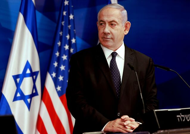 Israeli Prime Minister Benjamin Netanyahu looks at U.S. Secretary of State Antony Blinken (not pictured) during a joint news conference in Jerusalem, May 25, 2021.