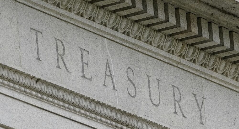 This May 4, 2021 file photo shows the Treasury Building in Washington