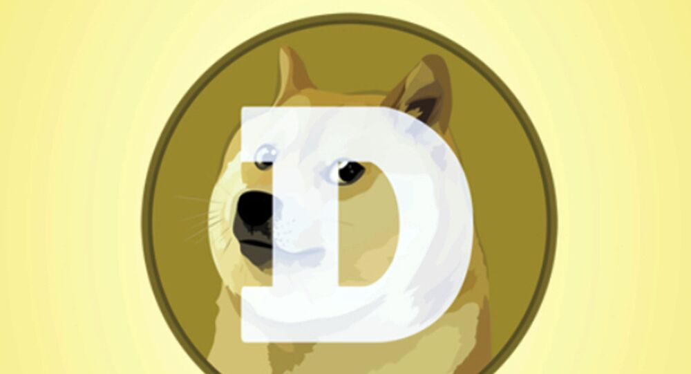 This mobile phone app screen shot shows the logo for Dogecoin, in New York, Tuesday, April 20, 2021