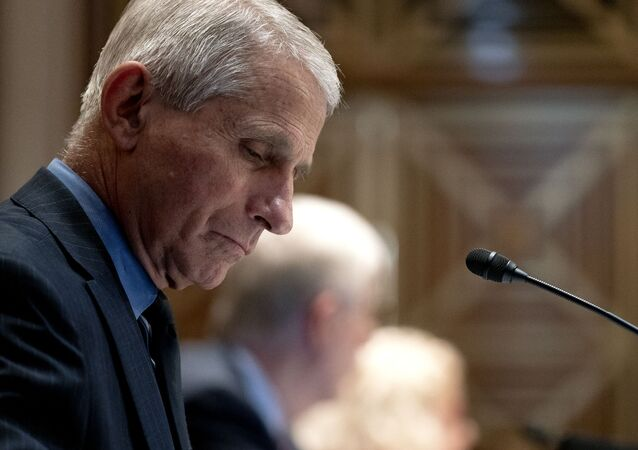 Anthony Fauci, director of the National Institute of Allergy and Infectious Diseases, listens during a hearing looking into the budget estimates for National Institute of Health (NIH) and the state of medical research on Capitol Hill in Washington, DC on May 26, 2021