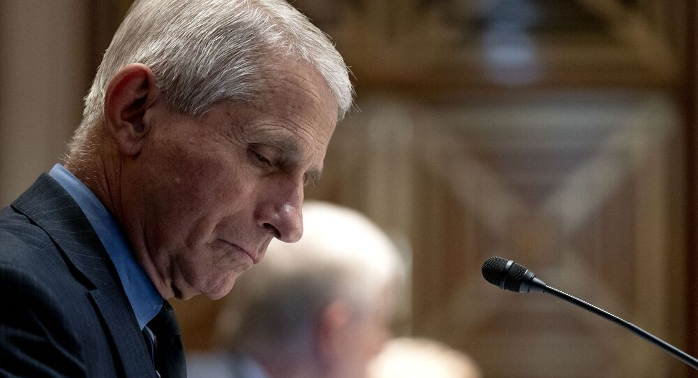 Anthony Fauci, director of the National Institute of Allergy and Infectious Diseases, listens during a hearing which is investigating budget estimates for the National Institute of Health (NIH) and the state of medical research on Capitol Hill in Washington, DC on 26 May 2021.