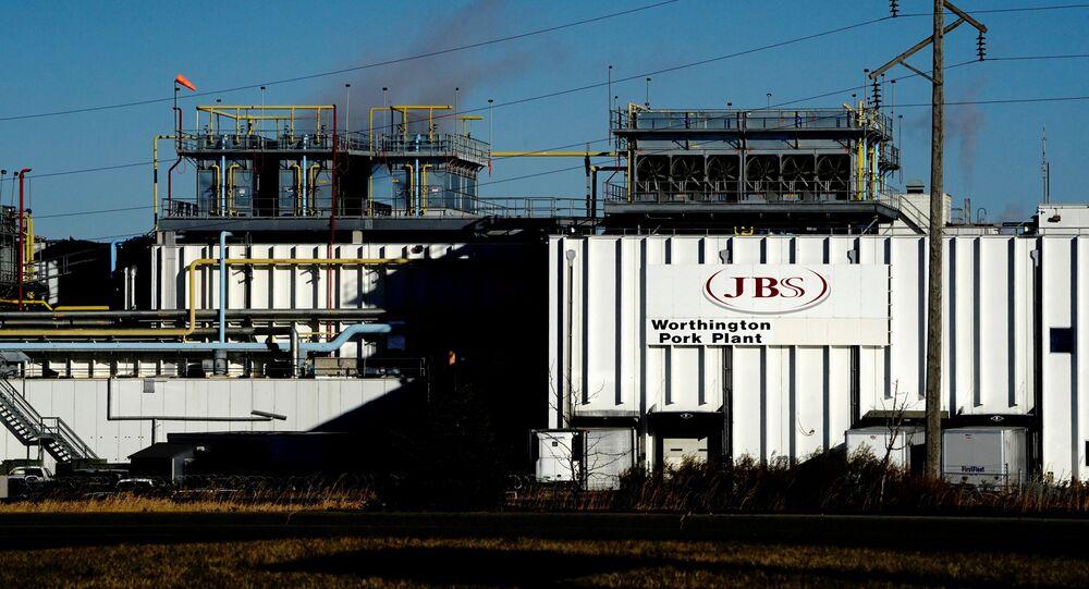 A general view of the JBS USA Worthington pork plant  in  Minnesota, U.S., October 28, 2020