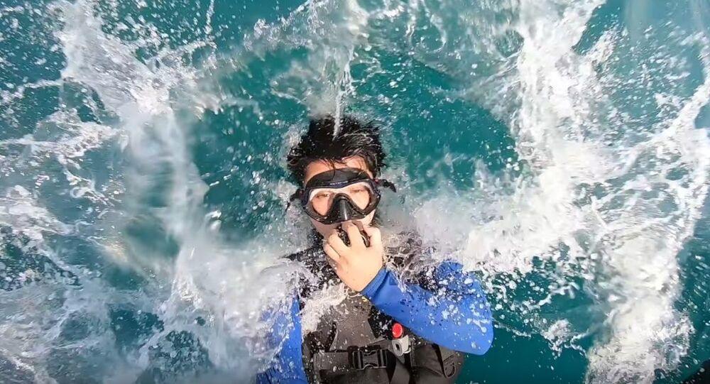 Slow Motion Dive Entry || ViralHog