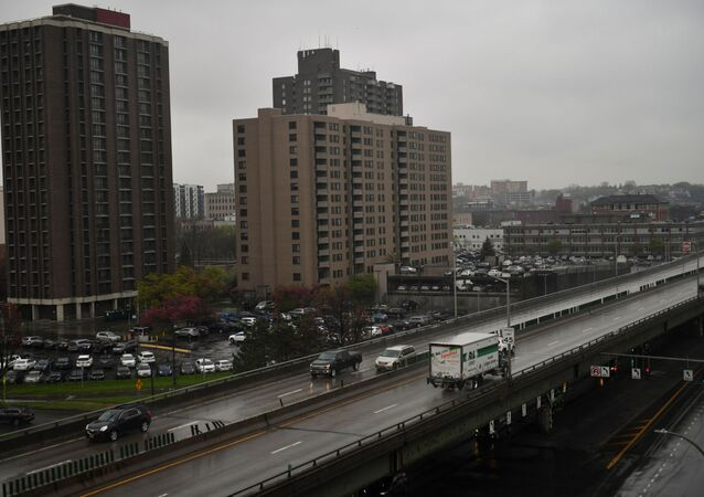A view of the I-81 freeway in Syracuse, New York, U.S., April 28, 2021. Picture taken April 28, 2021