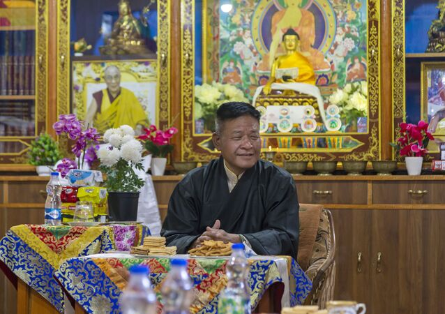 Penpa Tsering, the newly elected President of the Central Tibetan Administration, relaxes at the Ghadong monastery in Dharmsala, India, Thursday, May 27, 2021.