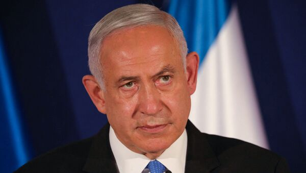 In this file photo taken on March 11, 2021 Israeli Prime Minister Benjamin Netanyahu speaks during a joint press conference with his Hungarian and Czech counterparts in Jerusalem - Sputnik International