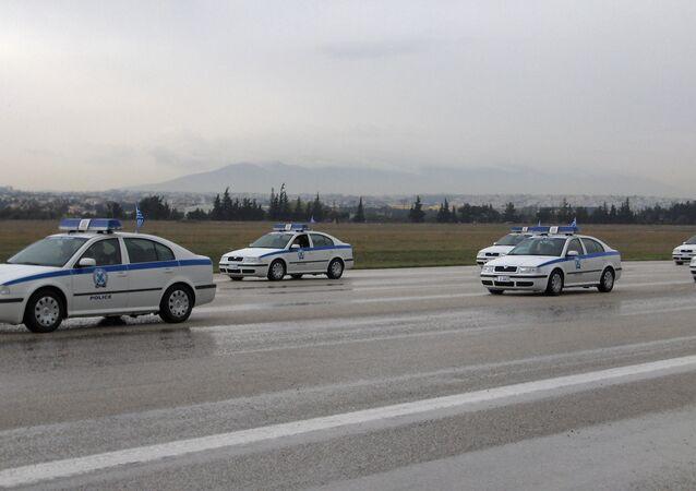 Greek police cars