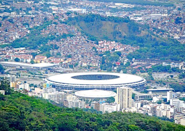 Maracana Olympic stadium in Rio de Janeiro, Brazil