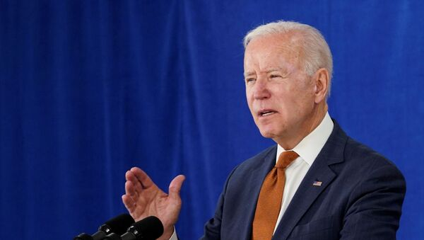 U.S. President Joe Biden delivers remarks on the May jobs report after U.S. employers boosted hiring amid the easing coronavirus disease (COVID-19) pandemic, at the Rehoboth Beach Convention Center in Rehoboth Beach, Delaware, US 4 June 2021 - Sputnik International