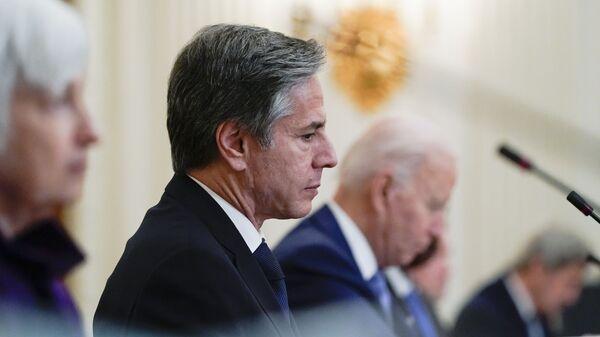 Secretary of State Antony Blinken and President Joe Biden. May 2021. File photo. - Sputnik International