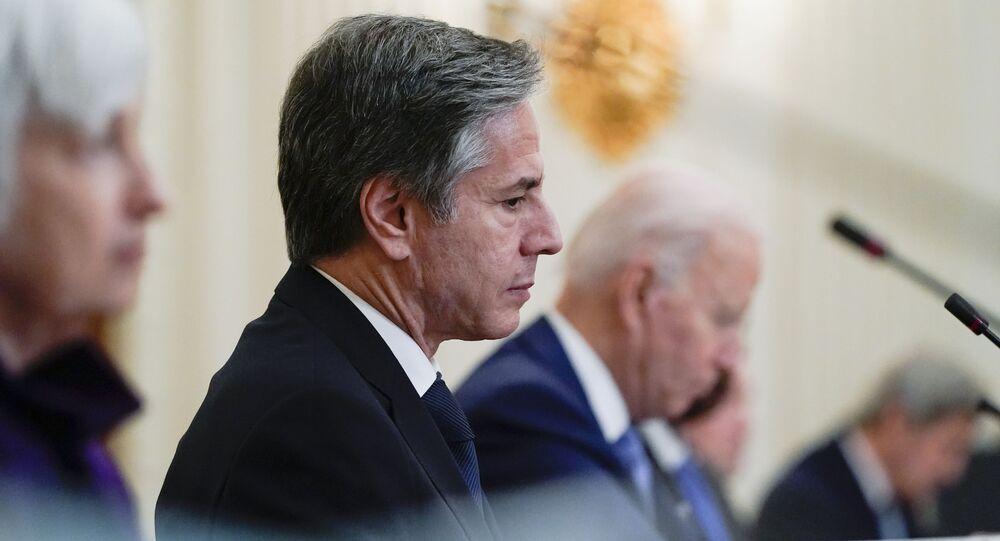 Secretary of State Antony Blinken and President Joe Biden. May 2021. File photo.