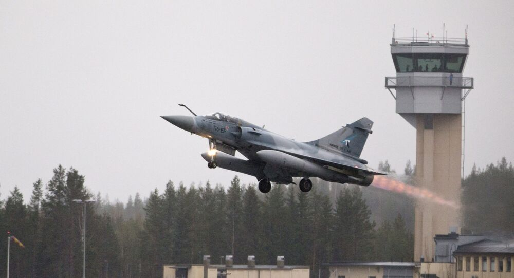 A French Mirage 2000 jet fighter takes off during the Arctic Challenge Exercise (ACE 2015) organized by Sweden, Finland and Norway in Rovaniemi, Finland on May 27, 2015.