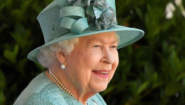 Britain's Queen Elizabeth attends a ceremony to mark her official birthday at Windsor Castle in Windsor, Britain, June 13, 2020. - Sputnik International
