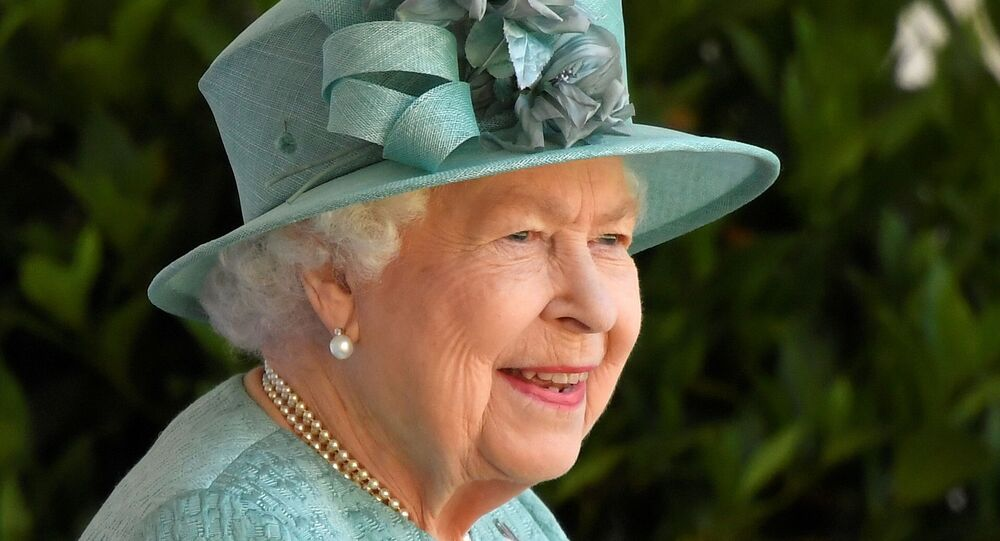 Britain's Queen Elizabeth attends a ceremony to mark her official birthday at Windsor Castle in Windsor, Britain, June 13, 2020.