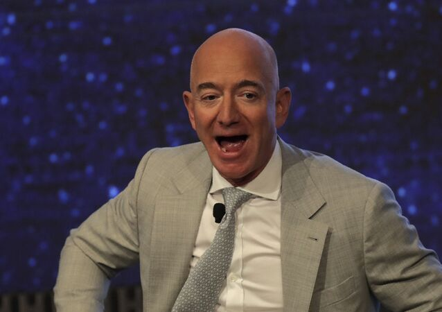 Amazon founder Jeff Bezos during the JFK Space Summit at the John F. Kennedy Presidential Library in Boston, Wednesday, June 19, 2019