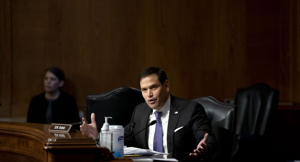 Sen. Marco Rubio, R-Fla., speaks during a Senate Appropriations Subcommittee looking into the budget estimates for National Institute of Health (NIH) and the state of medical research, Wednesday, May 26, 2021, on Capitol Hill in Washington.