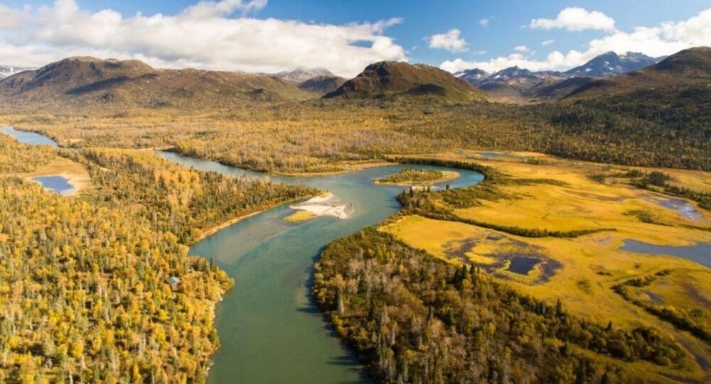Iliamna River in Autumn