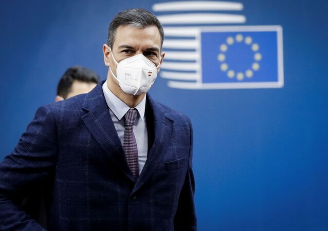 Spanish Prime Minister Pedro Sanchez arrives at the second day of a special EU summit in Brussels, Belgium May 25, 2021.