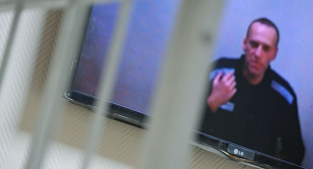 Alexei Navalny is taking part in the meeting of the Petushinsky District Court of the Vladimir Region via video link, where his claim to correctional colony No. 2 is being considered.