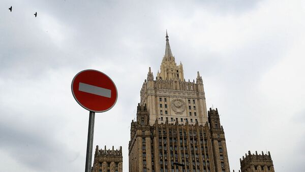 The building of the Ministry of Foreign Affairs of the Russian Federation on Smolenskaya-Sennaya Square in Moscow. - Sputnik International
