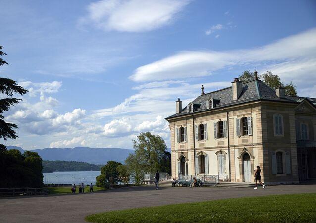 The Villa La Grange is pictured with Lake Leman in the background, ahead of the June 16 summit between U.S. President Joe Biden and Russian President Vladimir Putin in Geneva, Switzerland, June 4, 2021