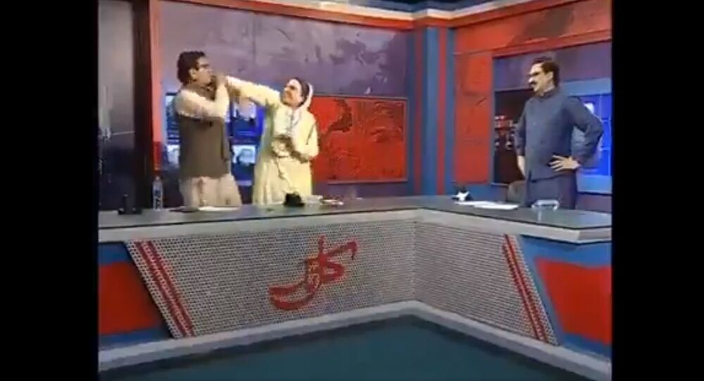 Physical fight between Pakistani politicians